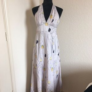 Anthropologie HD Paris Long Halter Dress